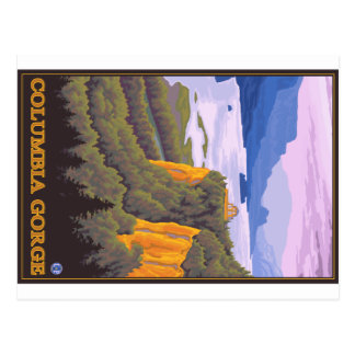 Columbia River Gorge Scene with Crown Point Post Cards