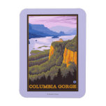 Columbia River Gorge Scene with Crown Point Rectangular Photo Magnet
