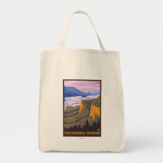 Columbia River Gorge Scene with Crown Point Tote Bag