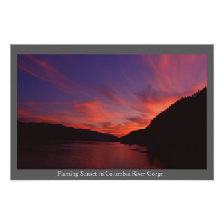 Columbia River Gorge Sunset Print