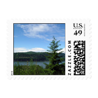 Columbia River Gorge View Postage Stamp