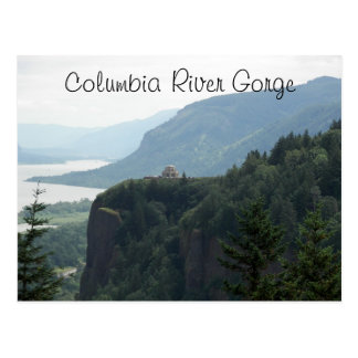 Columbia River Gorge Vista Travel Photo Postcard