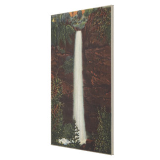 Columbia River, OR - Latourelle Falls View #1 Gallery Wrapped Canvas