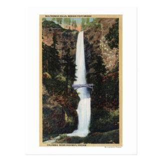 Columbia River, OR - Multnomah Falls and Benson Postcard