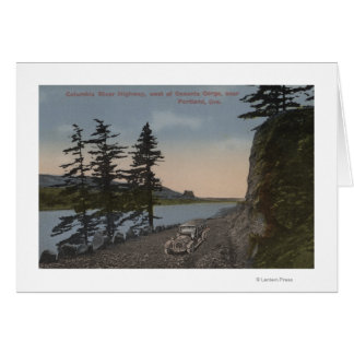Columbia River, Oregon - Highway West of Oneonta Card