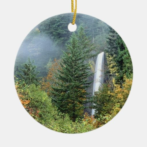 Columbia River Double-Sided Ceramic Round Christmas Ornament