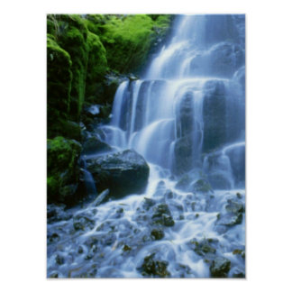 Columbia River Waterfall Fine Photo Poster