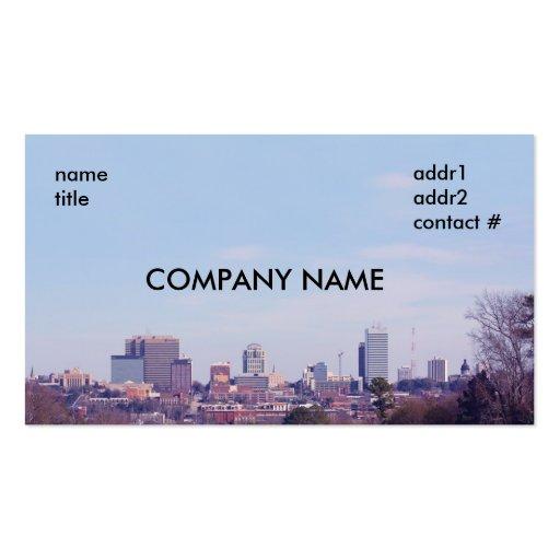 Columbia sc skyline business card zazzle for Business cards columbia sc