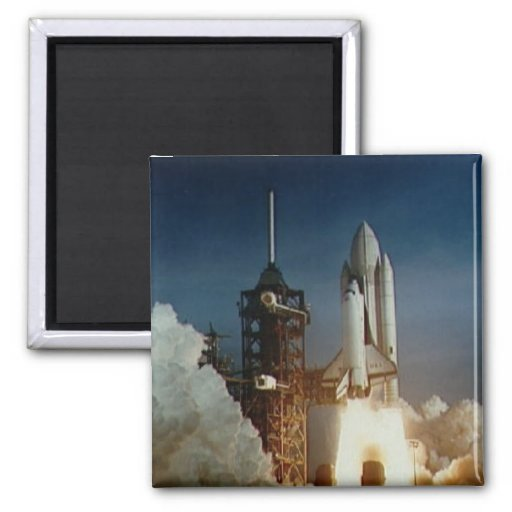 Columbia Shuttle Launch Refrigerator Magnet