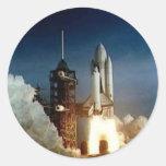 Columbia Shuttle Start Classic Round Sticker