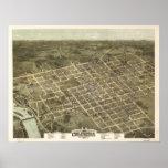 Columbia South Carolina 1872 Antique Panoramic Map Poster