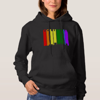 Columbia South Carolina Gay Pride Skyline Hoodie