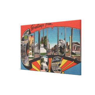 Columbia, South Carolina - Large Letter Scenes 2 Canvas Print