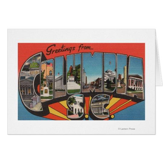Columbia, South Carolina - Large Letter Scenes 2 Card