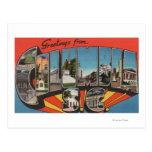 Columbia, South Carolina - Large Letter Scenes 2 Postcard