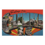 Columbia, South Carolina - Large Letter Scenes 2 Poster