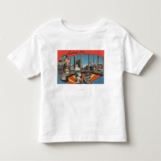Columbia, South Carolina - Large Letter Scenes 2 Toddler T-shirt