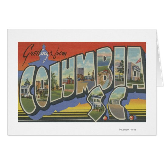 Columbia, South Carolina - Large Letter Scenes Card
