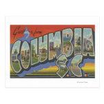 Columbia, South Carolina - Large Letter Scenes Postcard