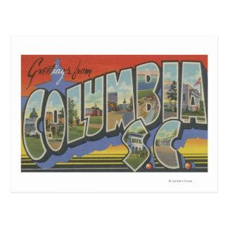 Columbia South Carolina - Large Letter Scenes Postcard