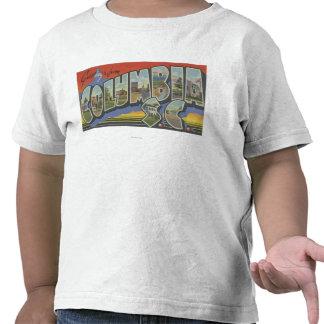 Columbia South Carolina - Large Letter Scenes Shirts