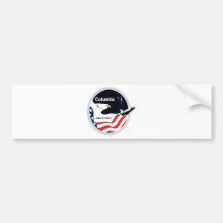 columbia space shuttle car bumper sticker
