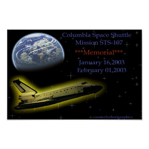 Columbia Space Shuttle Posters