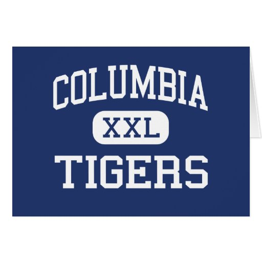 Columbia Tigers Middle Berkeley Heights Greeting Cards