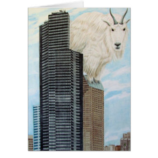 Columbia Tower Goat Card