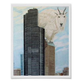 Columbia Tower Goat Poster
