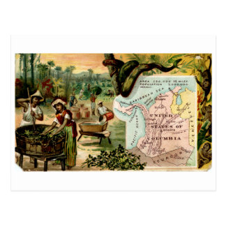 Columbia Vintage Trading Card and Map