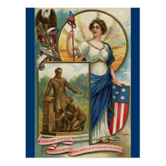 Columbia with Phrygian Cap, Shield & Eagle Postcard