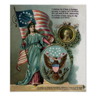 Columbia y el gran sello posters