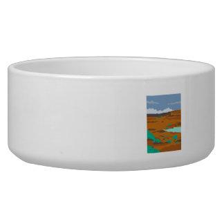 Columbian Basin Desert Scene WPA Bowl