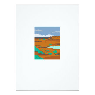 Columbian Basin Desert Scene WPA Card