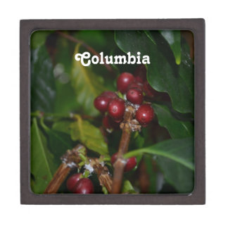 Columbian Coffee Beans Premium Keepsake Box