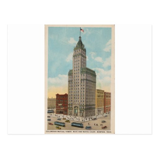 Columbian Mutual Tower, Memphis Tennessee Postcard