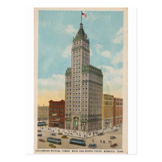 Columbian Mutual Tower, Memphis Tennessee Postcard