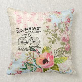 Columbias Bicycles Vintage Illustration Throw Pillow