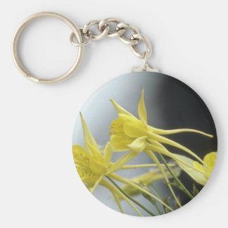 Columbine amarillo, flores (de Aquilegia) Llaveros Personalizados