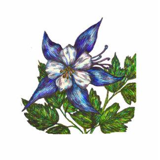 columbine azul pin fotoescultura
