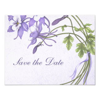 Columbine Bouquet Save the Date Custom Announcement