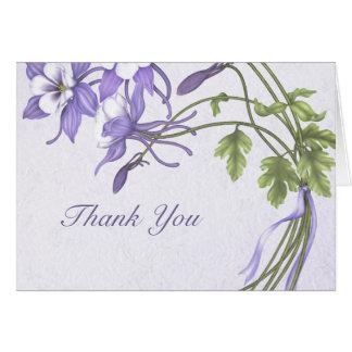 Columbine Bouquet Thank You Card
