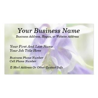 Columbine con volantes azul y blanco tarjetas de visita