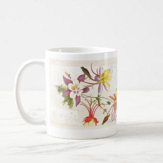 Columbine Floral Botanical Flowers Mug