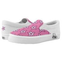 Columbine Floral on Pink by Aleta Slip-On Sneakers