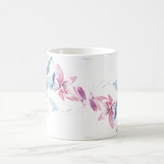 Columbine Flower Art Mug