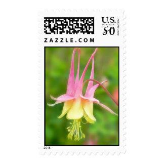 Columbine Flower In Profile Postage