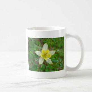 Columbine Flower in Yellow Coffee Mug