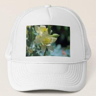 Columbine flower means to win trucker hat
